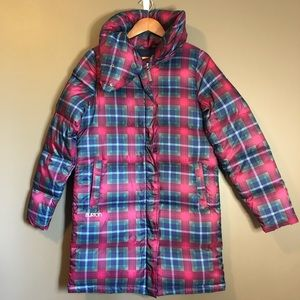 Burton patterned down & feather winter coat